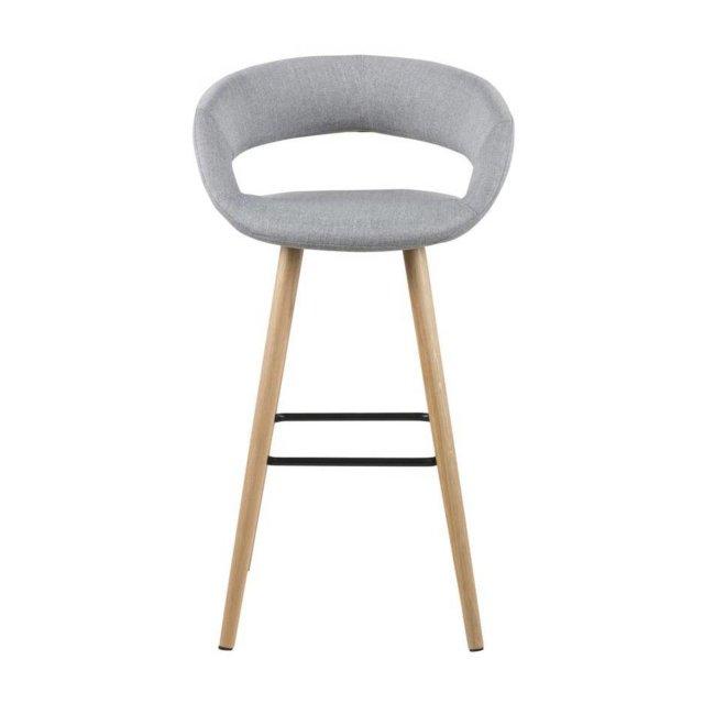 Barska stolica Grace Light Grey/Natural