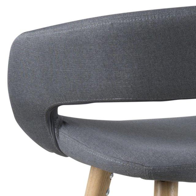 Barska stolica Grace Dark Grey/Natural