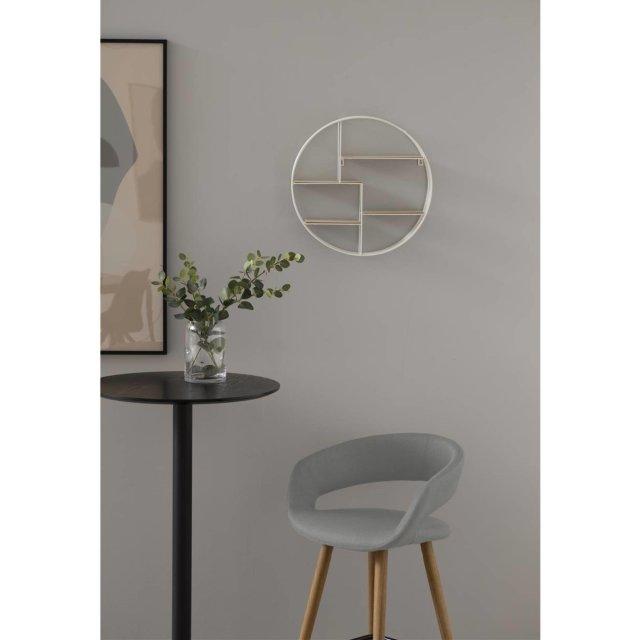 Polubarska stolica Grace Light Grey/Natural