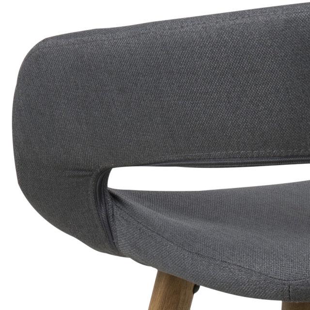 Polubarska stolica Grace Anthracite/Natural