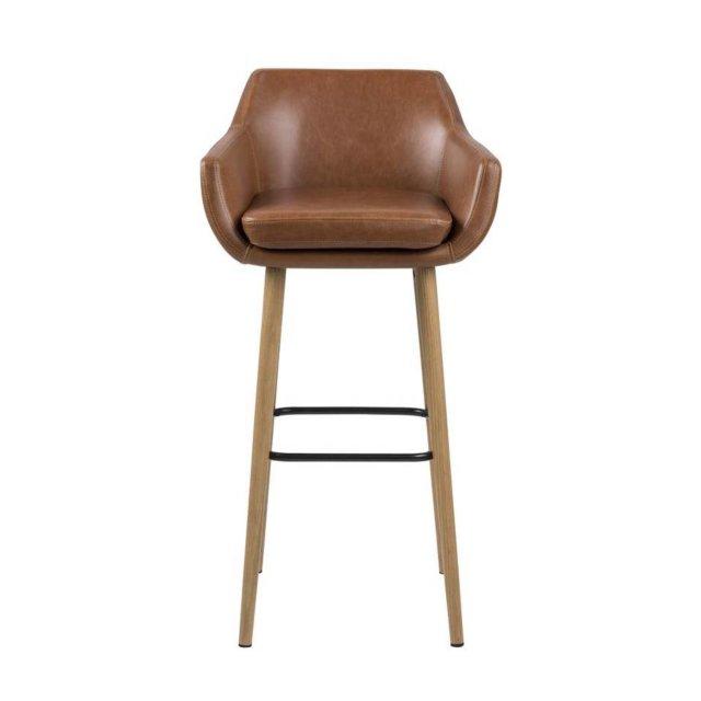 Barska stolica Nora Brown Leather