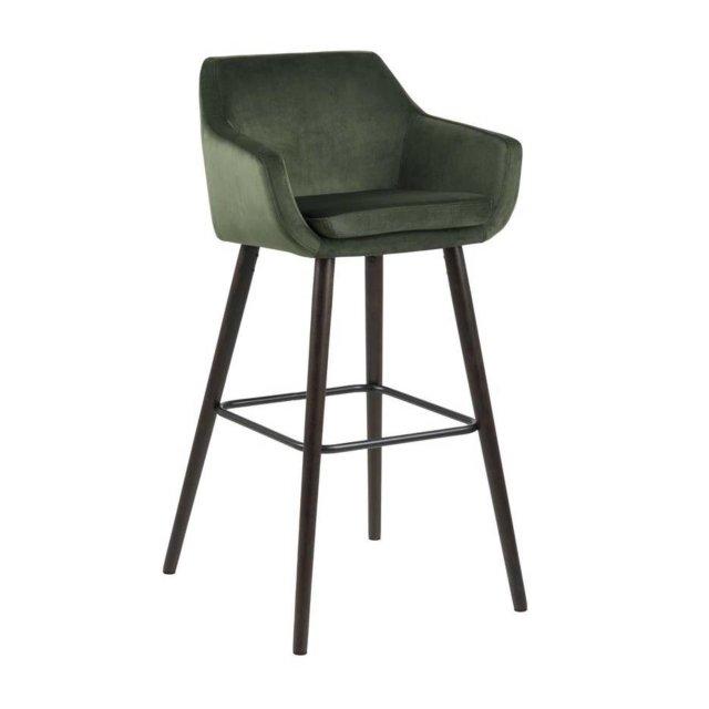 Barska stolica Nora Velvet Forest Green/Black