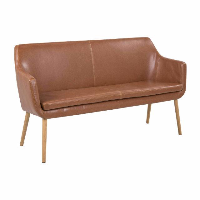 Blagovaonska klupa Nora Brandy Leather