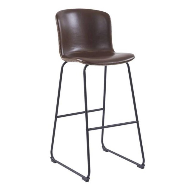 Barska stolica Story Brown Leather