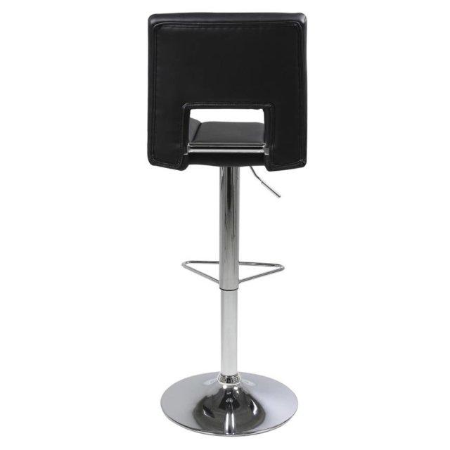 Barska stolica Sylvia Black Leather/Chrome