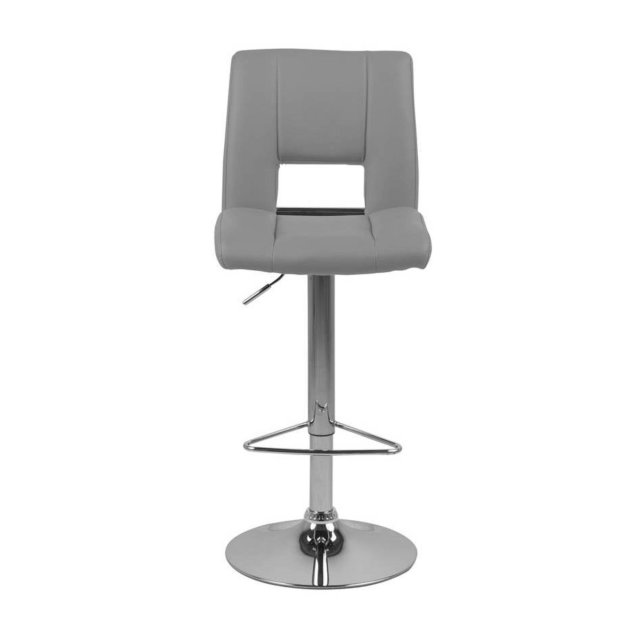 Barska stolica Sylvia Grey Leather/Chrome