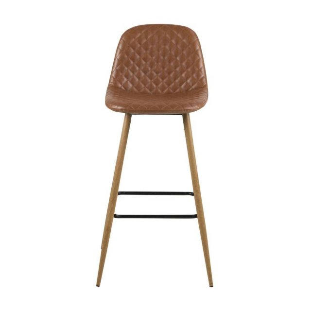 Barska stolica Wilma Leather Brown/Natural