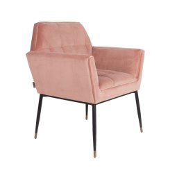 Stolica s rukonaslonom Kate Pink Clay