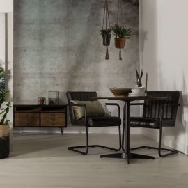Stolica s rukonaslonom Stitched Dark Grey