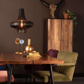 Stolica s rukonaslonom Stitched Velvet Olive