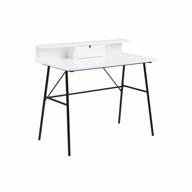 Radni stol Pascal Drawer White/Black