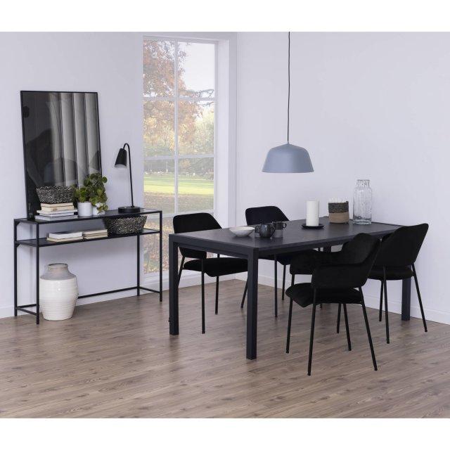 Produljivi stol Bicca170/250x90 cm Black