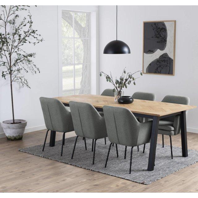 Produljivi stol Brighton L 220x95 cm
