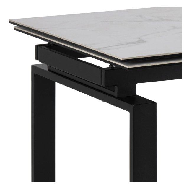 Produljivi stol Huddersfield L 160/240x85 cm White/Black