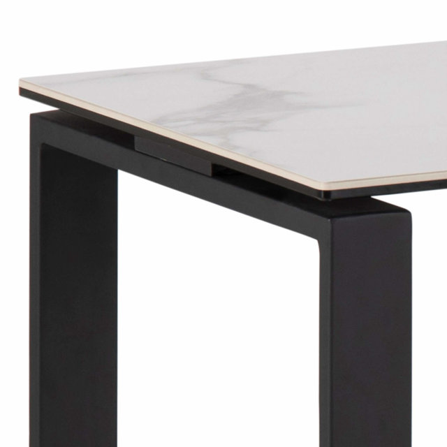 Konzolni stol Katrine Ceramic White/Black