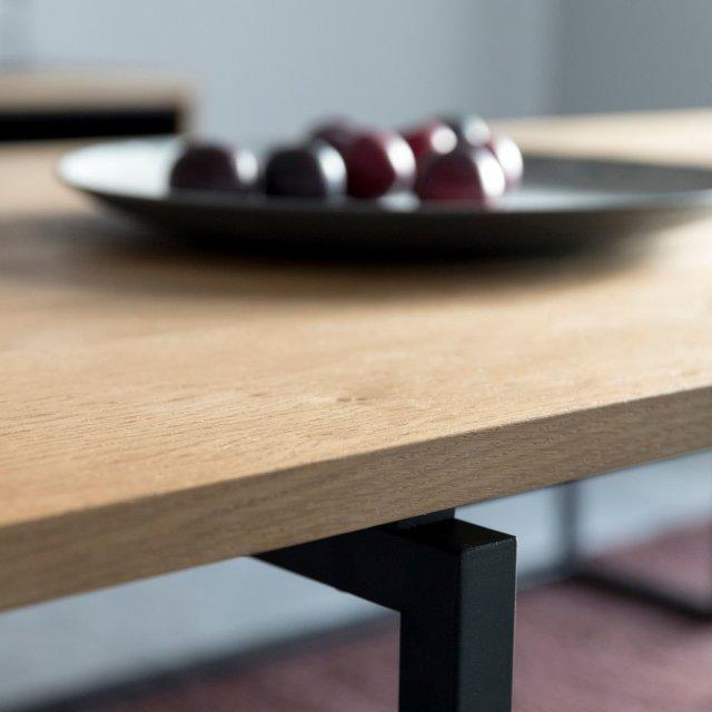 Produljivi stol Dalarna 160x75 cm Natural/Black