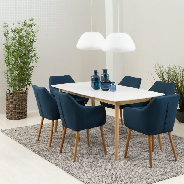 Produljivi stol Nagano L 180x90 cm White/Natural