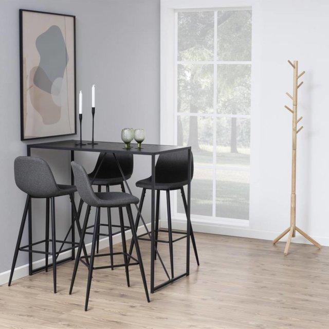 Barski stol Seaford All Black
