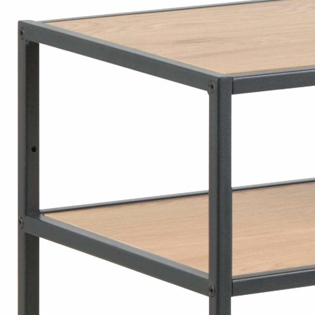 Konzolni stol Seaford Two Shelves Natural/Black