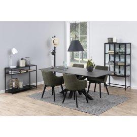 Konzolni stol Seaford Two Shelves All Black