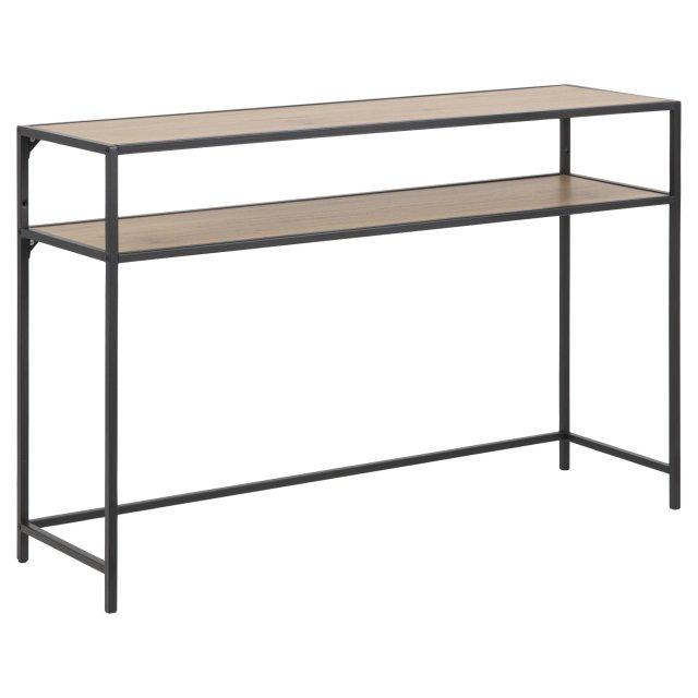 Konzolni stol Seaford Shelf L Natural/Black