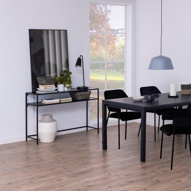 Konzolni stol Seaford Shelf L All Black