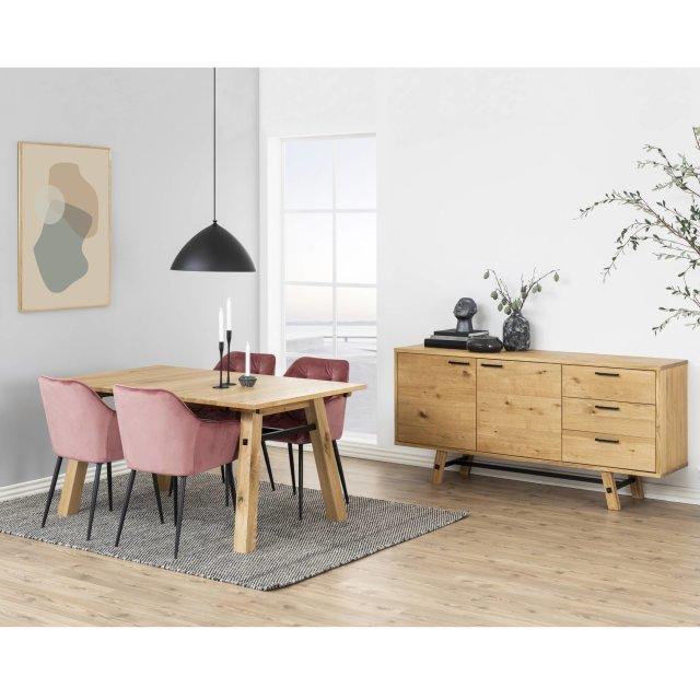 Produljivi stol Stockholm S 160x95 cm