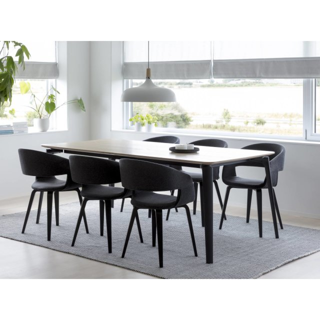 Produljivi stol Connect 200x100 cm Natural/Black