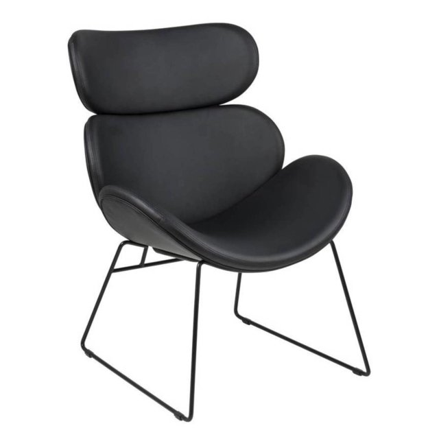 Fotelja Cazar Black Leather
