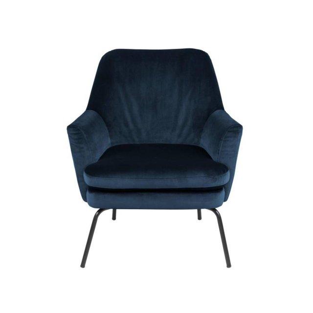 Fotelja Chisa Velvet Navy Blue/Black