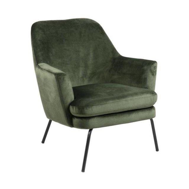 Fotelja Chisa Velvet Forest Green/Black