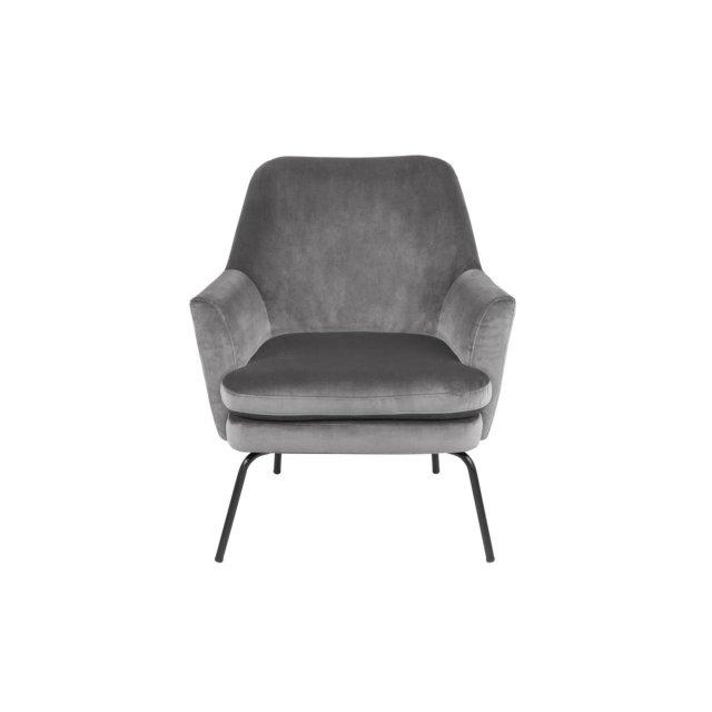 Fotelja Chisa Velvet Dark Grey/Black