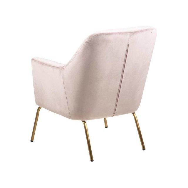 Fotelja Chisa Velvet Dusty Rose/Gold