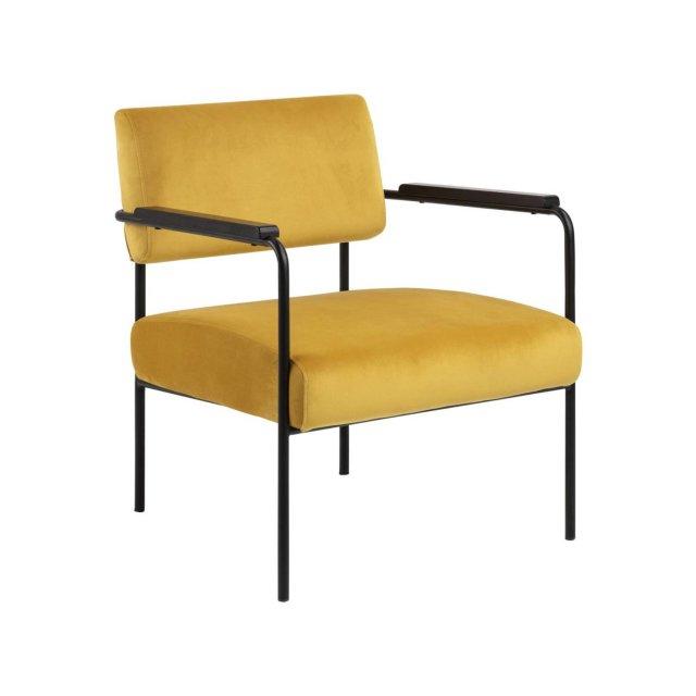 Fotelja Cloe Velvet Yellow