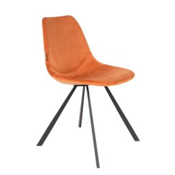 Stolica Franky Velvet Orange
