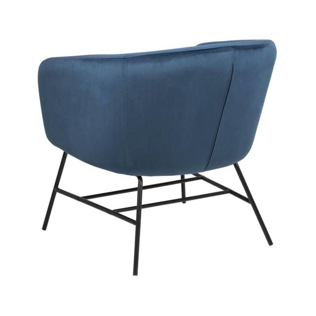 Fotelja Ramsey Velvet Navy Blue/Black