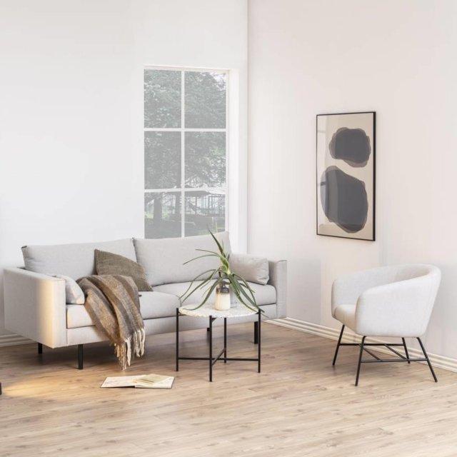 Fotelja Ramsey Light Grey/Black