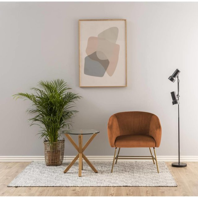 Fotelja Ramsey Velvet Copper/Gold