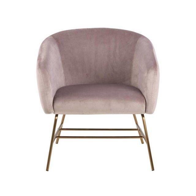 Fotelja Ramsey Velvet Dusty Rose/Gold