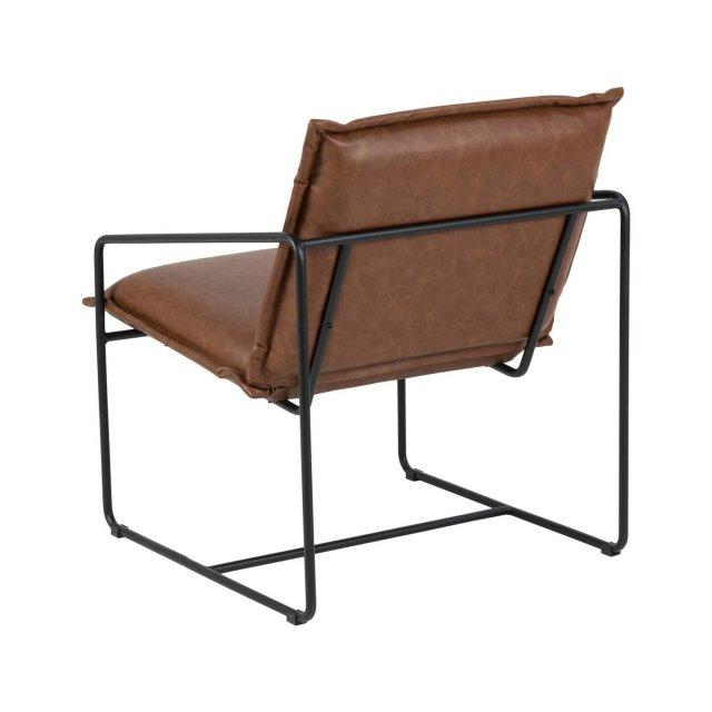 Fotelja Sheba Brown Leather