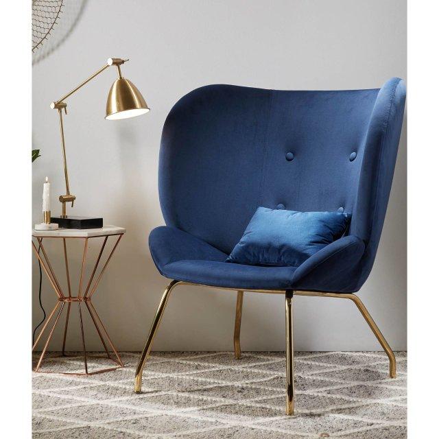 Fotelja Violet Dark Blue