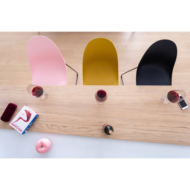 Polubarska stolica Parma Pink