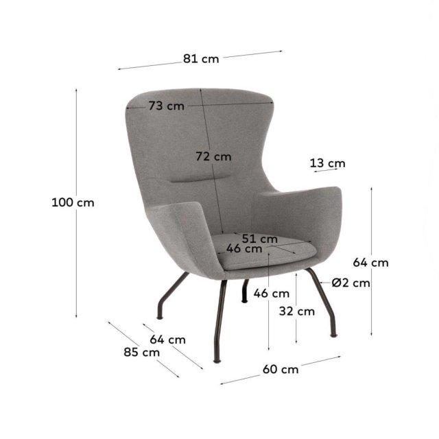 Fotelja Otilia Grey