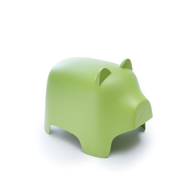 Dječji tabure Piggy Green
