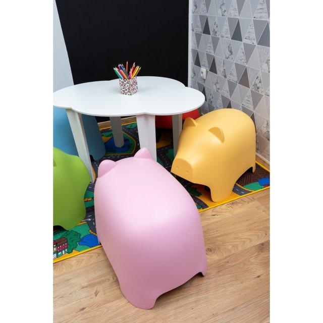 Dječji tabure Piggy Yellow