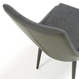 Stolica Davi Dark Grey Leather