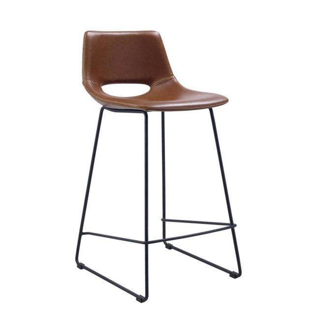 Polubarska stolica Zahara Brown Leather