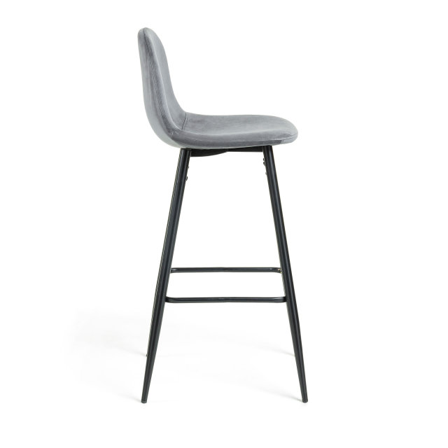 Barska stolica Nilson Velvet Grey/Black