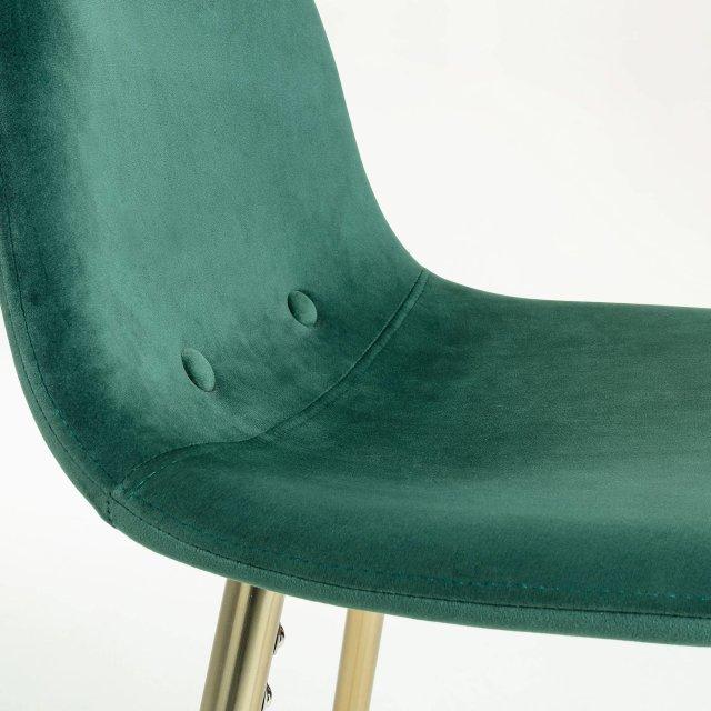 Barska stolica Nilson Velvet Green/Gold