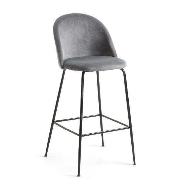 Barska stolica Ivonne Velvet Grey/Black